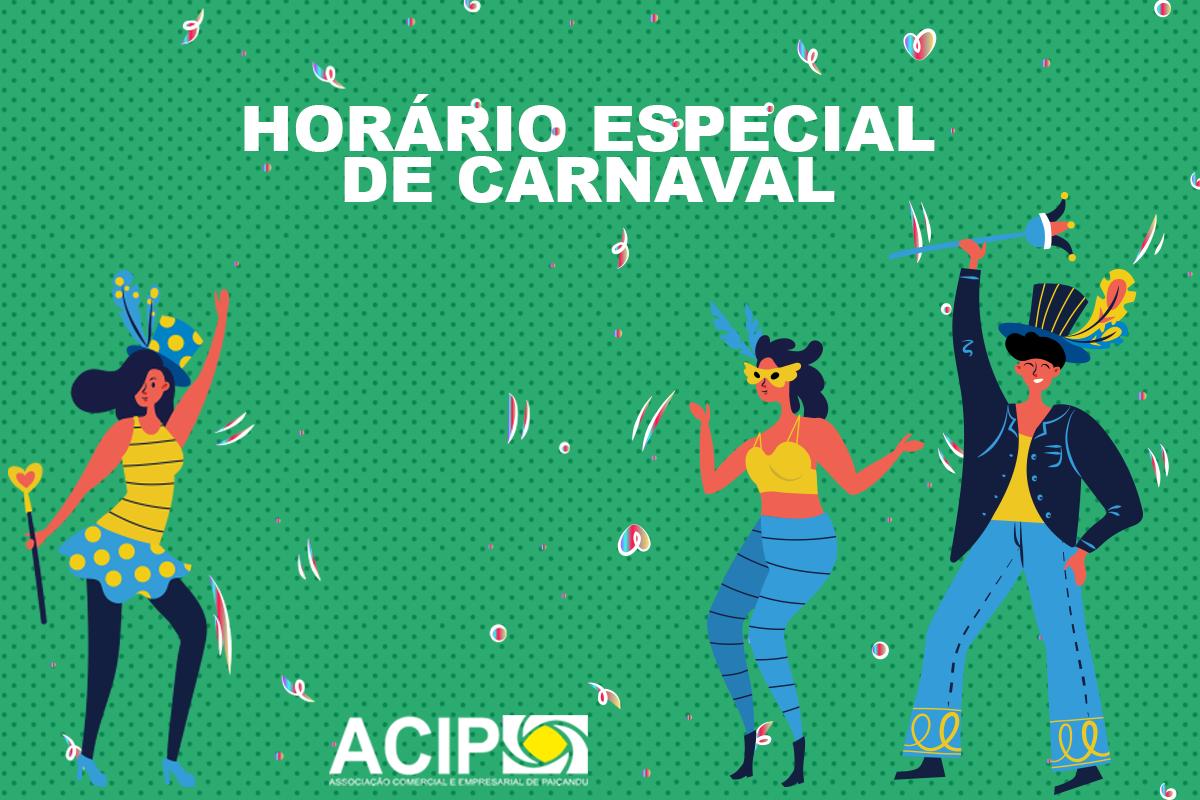 <p>Na próxima semana, em função do Carnaval, haverá mudanças no horário de atendimento do comércio de Paiçandu.</p>  <p>Na segunda-feira, dia...