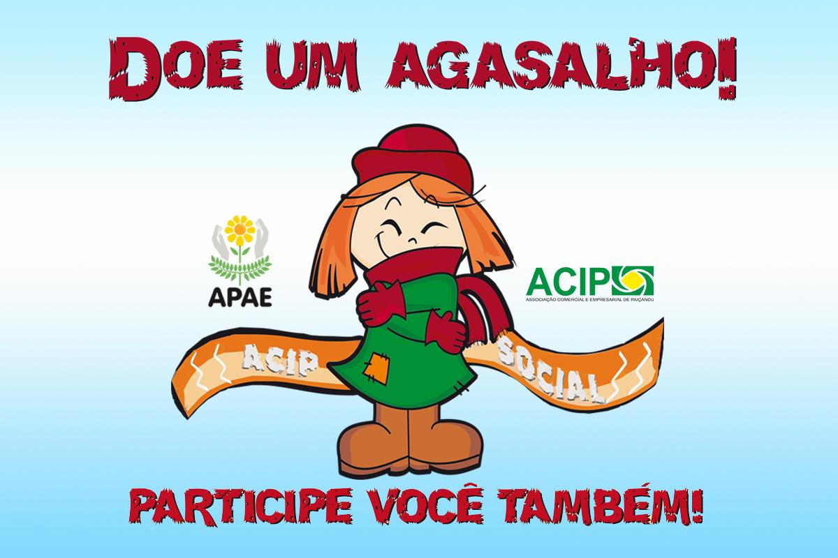 <p>Termina no dia 30 de maio a Campanha do Agasalho da ACIP 2019. A ação, que conta com o apoio de diversas entidades, visa a arrecadação de roupas, calçados,...