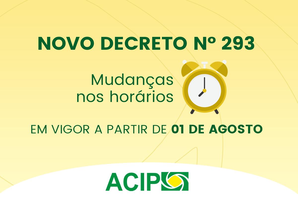 <p>A prefeitura de Paiçandu publicou nesta sexta-feira, dia 31, um novo decreto (nº 293) que altera o horário de funcionamento de diversos estabelecimentos. As mudanças...